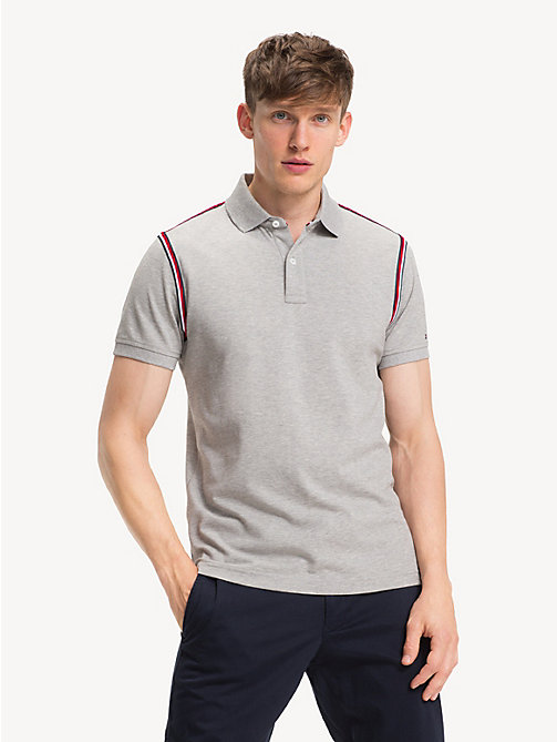 TOMMY HILFIGER Polo slim fit in puro cotone - CLOUD HTR - TOMMY HILFIGER Polo - immagine principale