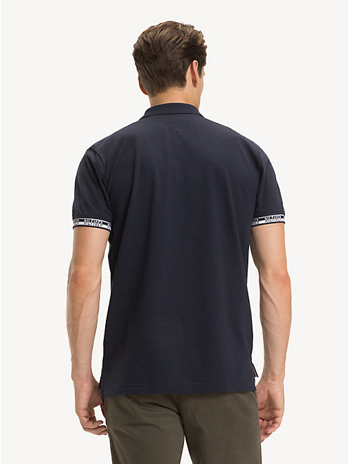 TOMMY HILFIGER Regular fit piqué poloshirt met logo - SKY CAPTAIN HEATHER - TOMMY HILFIGER NIEUW - detail image 1