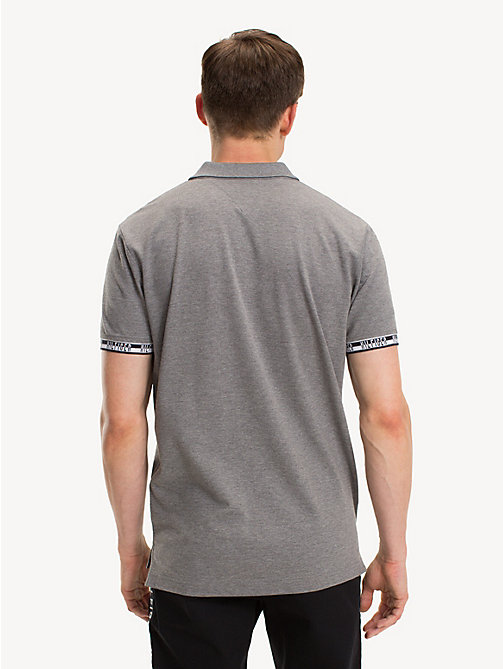 TOMMY HILFIGER Regular Fit Logo Polo Shirt - SILVER FOG HTR - TOMMY HILFIGER NEW IN - detail image 1