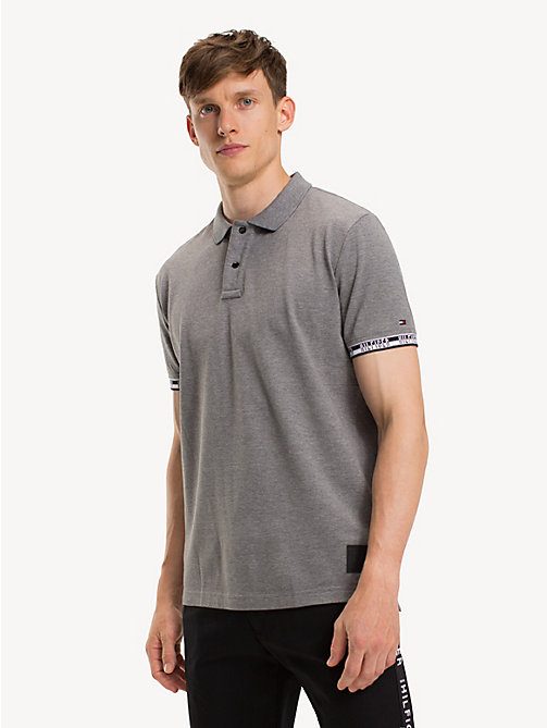 TOMMY HILFIGER Regular Fit Logo Polo Shirt - SILVER FOG HTR - TOMMY HILFIGER NEW IN - main image
