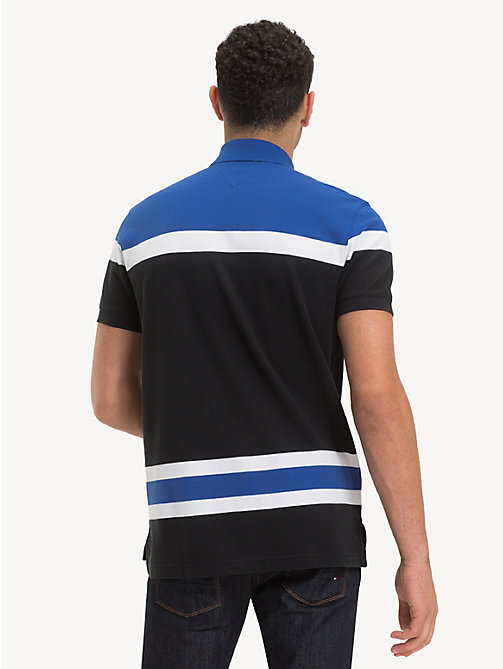 TOMMY HILFIGER Regular fit poloshirt met colour-blocking - JET BLACK / MULTI -  NIEUW - detail image 1