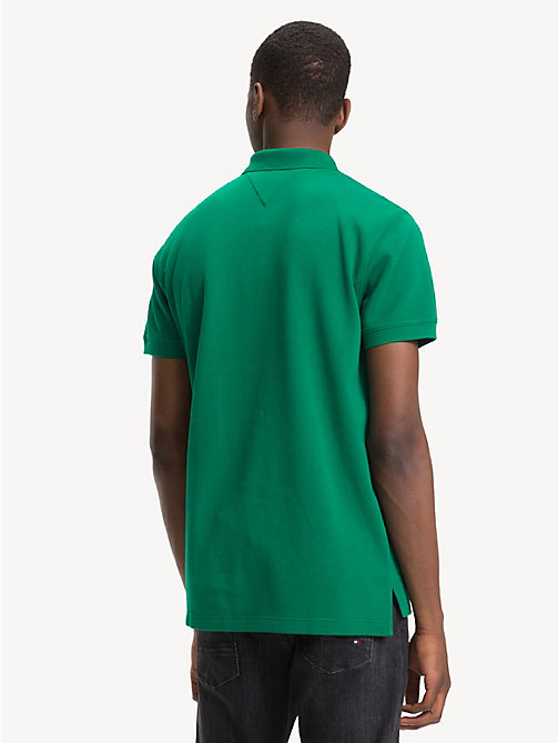 TOMMY HILFIGER Double Face Regular Fit Polo Shirt - ULTRAMARINE GREEN / JET BLACK - TOMMY HILFIGER NEW IN - detail image 1