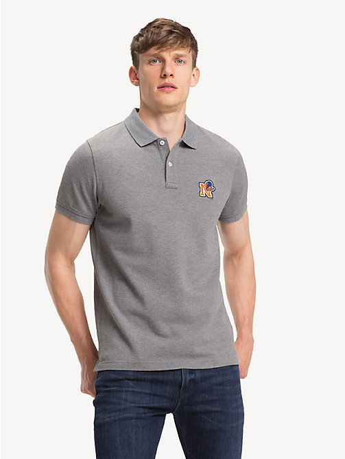 TOMMY HILFIGER Slim Fit Mascot Polo Shirt - SILVER FOG HTR - TOMMY HILFIGER Polo Shirts - main image