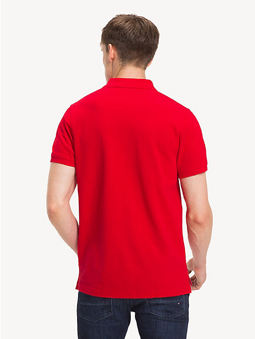 TOMMY HILFIGER Slim Fit Mascot Polo Shirt - GOJI BERRY - TOMMY HILFIGER Polo Shirts - detail image 1