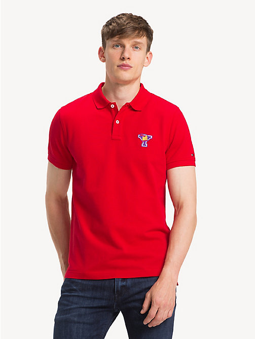 TOMMY HILFIGER Slim Fit Mascot Polo Shirt - GOJI BERRY - TOMMY HILFIGER Polo Shirts - main image