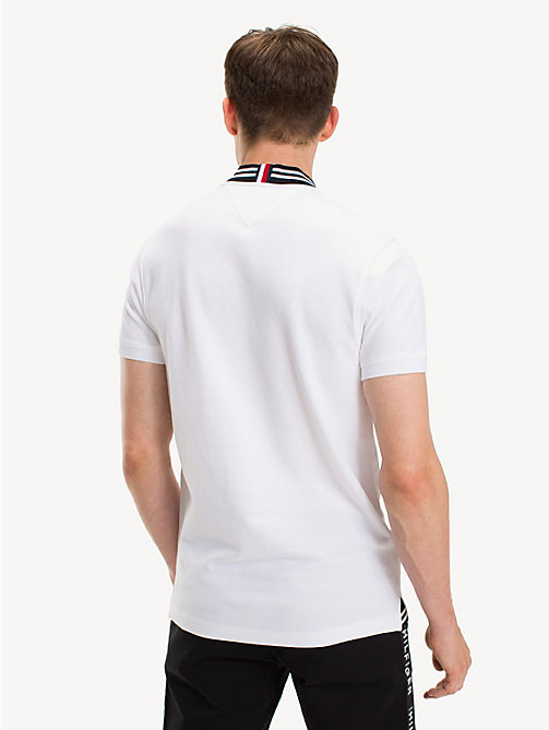 TOMMY HILFIGER Pure Cotton Slim Fit Logo Polo Shirt - BRIGHT WHITE - TOMMY HILFIGER NEW IN - detail image 1