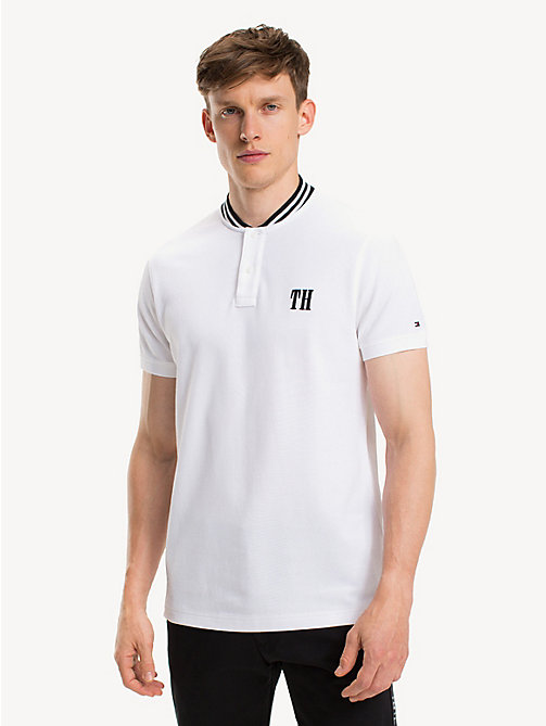 TOMMY HILFIGER Slim Fit Logo-Poloshirt aus reiner Baumwolle - BRIGHT WHITE - TOMMY HILFIGER NEW IN - main image