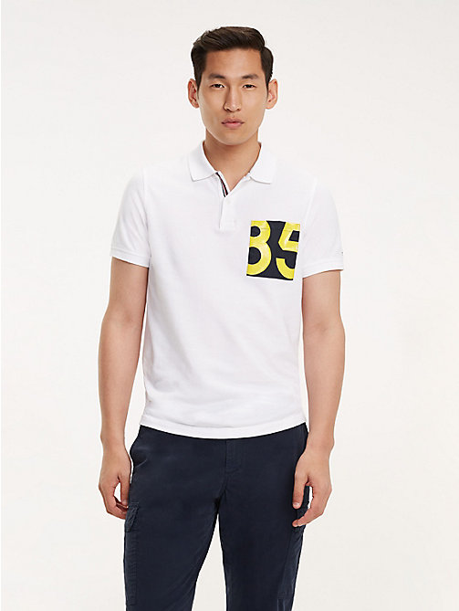 TOMMY HILFIGER Pure Cotton Slim Fit Polo - BRIGHT WHITE - TOMMY HILFIGER NEW IN - main image