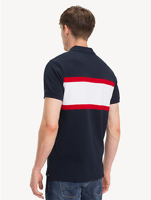 TOMMY HILFIGER Slim Fit Cotton Polo Shirt - SKY CAPTAIN/MULTI - TOMMY HILFIGER NEW IN - detail image 1