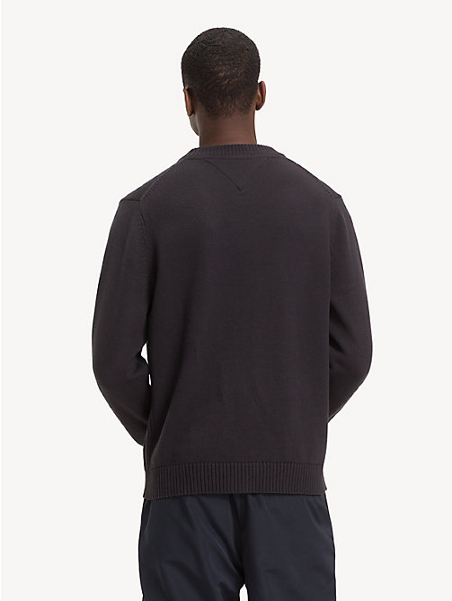 TOMMY HILFIGER Relaxed Fit NYC Jumper - JET BLACK - TOMMY HILFIGER Winter Warmers - detail image 1