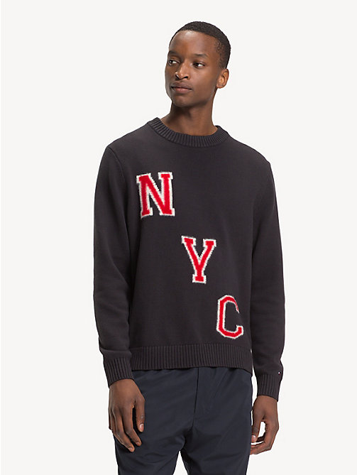 TOMMY HILFIGER Relaxed Fit NYC Jumper - JET BLACK - TOMMY HILFIGER Winter Warmers - main image