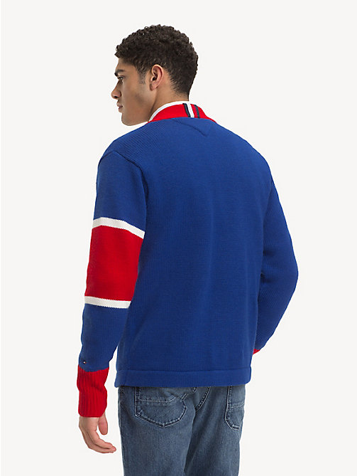 TOMMY HILFIGER Pure Wool Varsity Cardigan - SURF THE WEB - TOMMY HILFIGER NEW IN - detail image 1