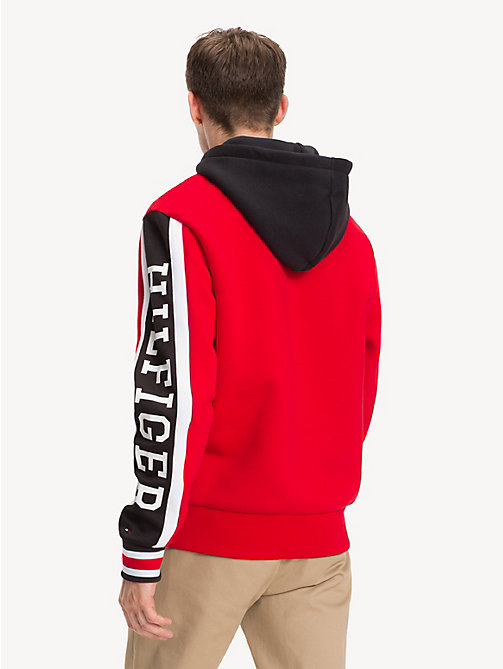 TOMMY HILFIGER Fleece Logo Hoody - GOJI BERRY / MULTI - TOMMY HILFIGER NEW IN - detail image 1