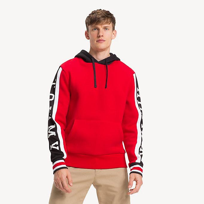 012748b57f166f Fleece Logo Hoody. TOMMY HILFIGER
