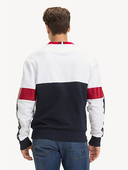 TOMMY HILFIGER Relaxed fit sweatshirt met colour-blocking - BRIGHT WHITE/MULTI - TOMMY HILFIGER NIEUW - detail image 1