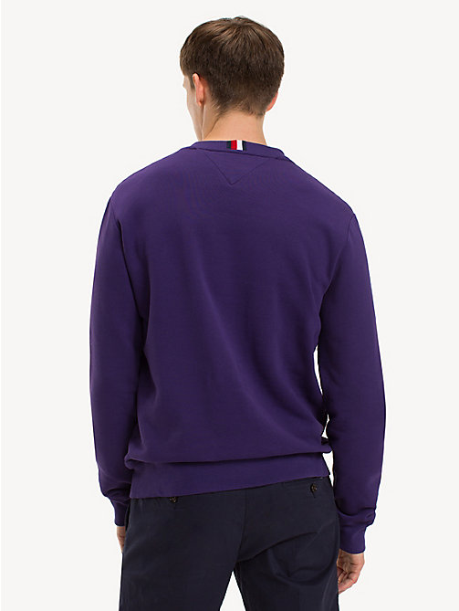 TOMMY HILFIGER Pure Cotton Logo Sweatshirt - PARACHUTE PURPLE - TOMMY HILFIGER NEW IN - detail image 1