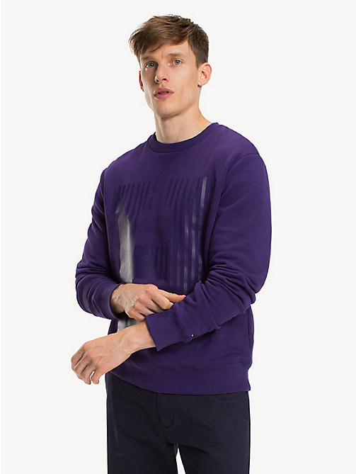 TOMMY HILFIGER Pure Cotton Logo Sweatshirt - PARACHUTE PURPLE - TOMMY HILFIGER Sweatshirts - main image