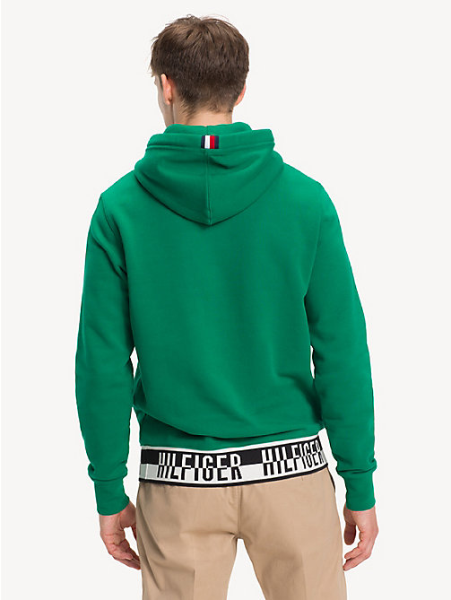 TOMMY HILFIGER Logo Drawstring Hoody - ULTRAMARINE GREEN - TOMMY HILFIGER NEW IN - detail image 1
