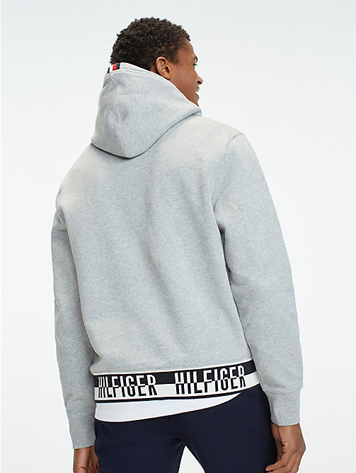 TOMMY HILFIGER Logo Drawstring Hoody - CLOUD HTR - TOMMY HILFIGER Hoodies - detail image 1