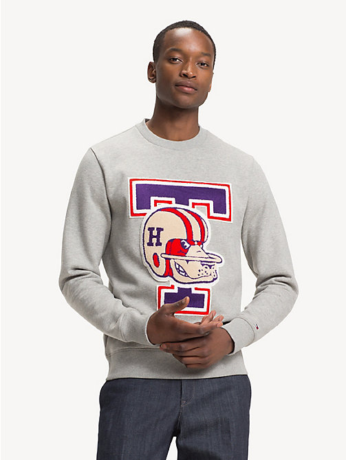 TOMMY HILFIGER Sweatshirt mit Mascot-Logo - CLOUD HTR - TOMMY HILFIGER NEW IN - main image