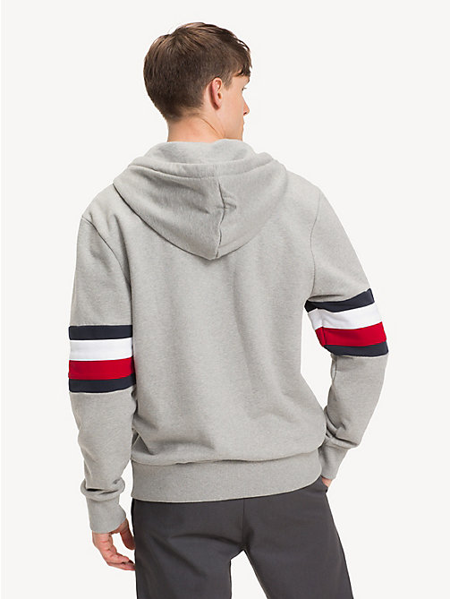 TOMMY HILFIGER Relaxed fit hoodie met rits en colour-blocking - CLOUD HTR - TOMMY HILFIGER NIEUW - detail image 1