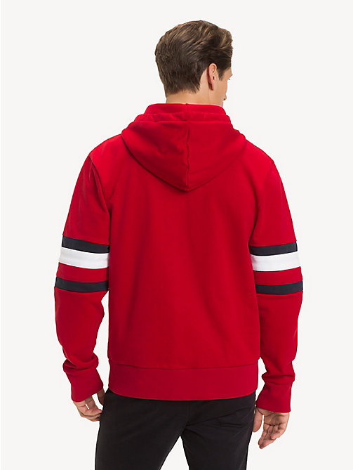 TOMMY HILFIGER Colour-Blocked Relaxed Fit Hoody - HAUTE RED - TOMMY HILFIGER Hoodies - detail image 1