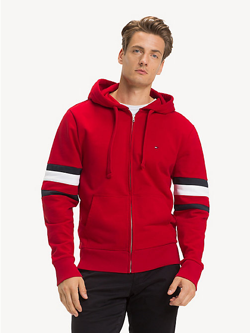 TOMMY HILFIGER Colour-Blocked Relaxed Fit Hoody - HAUTE RED - TOMMY HILFIGER NEW IN - main image