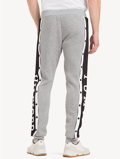 TOMMY HILFIGER Snap Button Logo Joggers - SILVER FOG HTR - TOMMY HILFIGER NEW IN - detail image 1