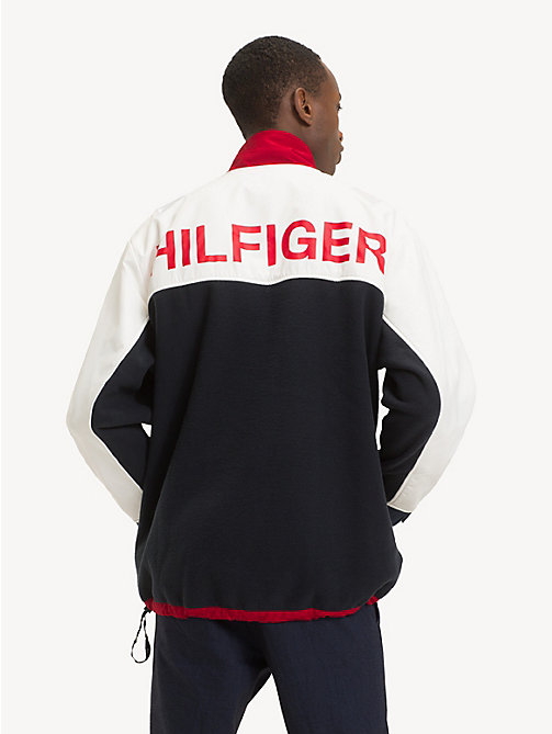 TOMMY HILFIGER Colour-Blocked Fleece Anorak - SKY CAPTAIN / MULTI - TOMMY HILFIGER NEW IN - detail image 1