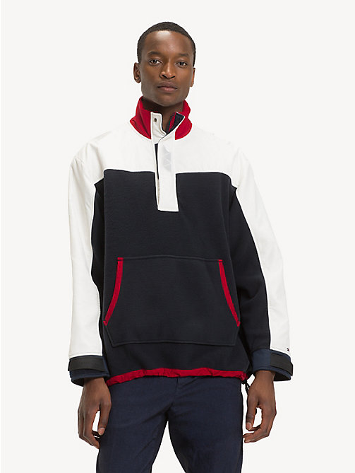 TOMMY HILFIGER Colour-Blocked Fleece Anorak - SKY CAPTAIN / MULTI - TOMMY HILFIGER NEW IN - main image