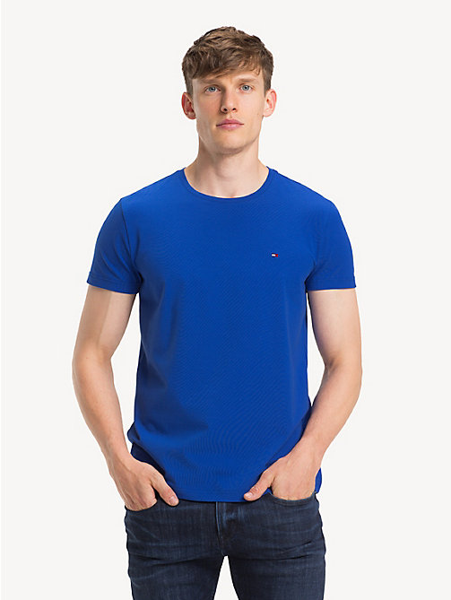 TOMMY HILFIGER Crew Neck Cotton T-Shirt - SURF THE WEB - TOMMY HILFIGER T-Shirts - main image