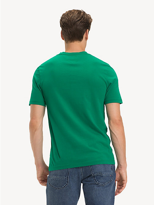 TOMMY HILFIGER Organic Cotton Logo T-Shirt - ULTRAMARINE GREEN - TOMMY HILFIGER Sustainable Evolution - detail image 1