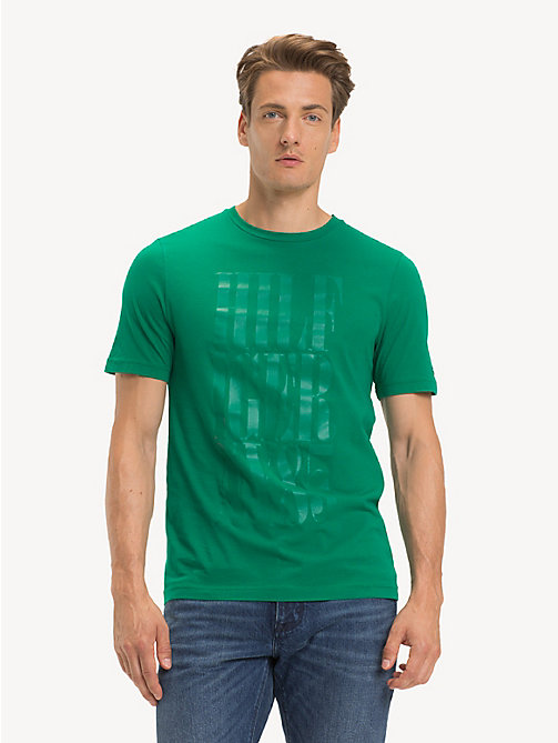 TOMMY HILFIGER Logo-T-Shirt aus Bio-Baumwolle - ULTRAMARINE GREEN - TOMMY HILFIGER Sustainable Evolution - main image