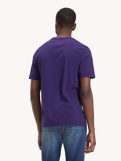 TOMMY HILFIGER Organic Cotton Logo T-Shirt - PARACHUTE PURPLE - TOMMY HILFIGER Sustainable Evolution - detail image 1
