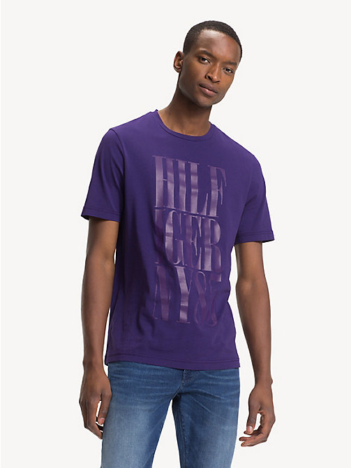 TOMMY HILFIGER T-shirt à logo en coton bio - PARACHUTE PURPLE - TOMMY HILFIGER Sustainable Evolution - image principale