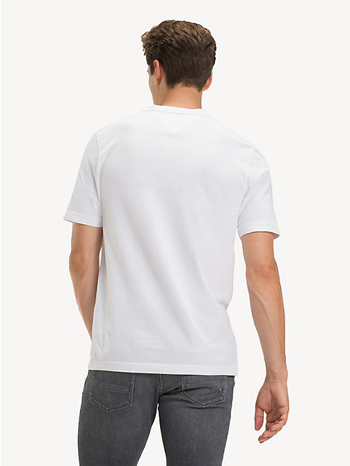 ... TOMMY HILFIGER Baumwoll-T-Shirt mit 1985-Logo - BRIGHT WHITE - TOMMY f0eb76c2c9