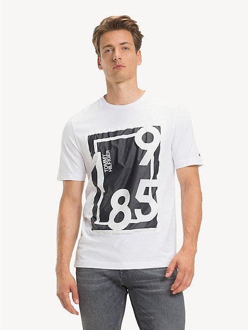 a885eaee1c2ef NOUVEAU TOMMY HILFIGER T-shirt en pur coton à logo 1985 - BRIGHT WHITE -  TOMMY ...