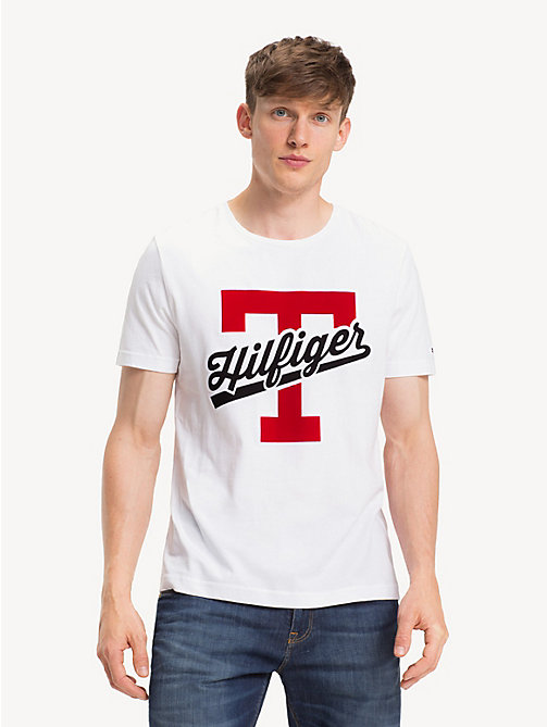 TOMMY HILFIGER Pure Cotton Logo T-Shirt - BRIGHT WHITE - TOMMY HILFIGER NEW IN - main image