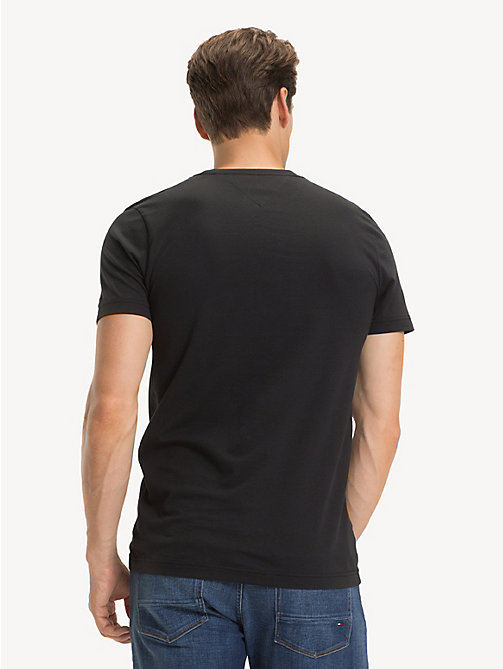 TOMMY HILFIGER Signature Logo T-Shirt - JET BLACK - TOMMY HILFIGER Sustainable Evolution - detail image 1