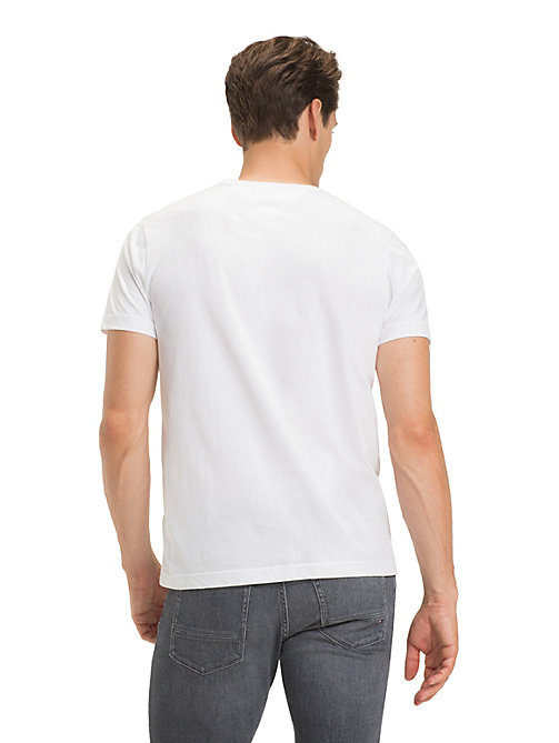 TOMMY HILFIGER Signature Logo T-Shirt - BRIGHT WHITE - TOMMY HILFIGER Sustainable Evolution - detail image 1