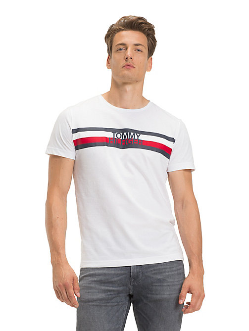 TOMMY HILFIGER Signature Logo T-Shirt - BRIGHT WHITE - TOMMY HILFIGER Sustainable Evolution - main image