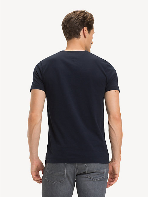 TOMMY HILFIGER Signature Logo T-Shirt - SKY CAPTAIN - TOMMY HILFIGER Sustainable Evolution - detail image 1
