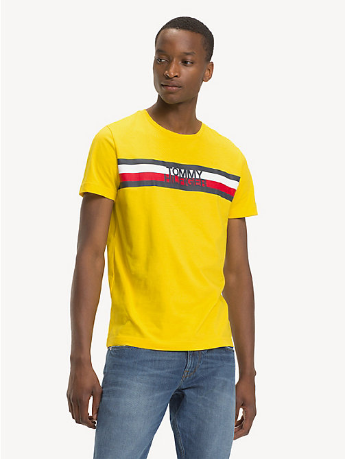 TOMMY HILFIGER Signature Logo T-Shirt - EMPIRE YELLOW - TOMMY HILFIGER Sustainable Evolution - main image