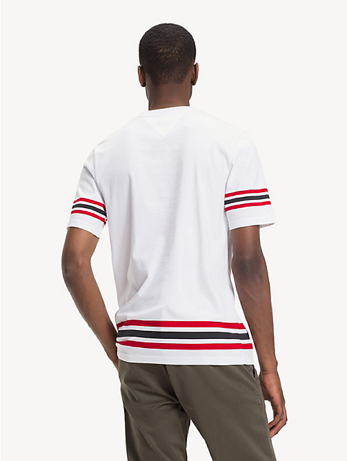 TOMMY HILFIGER Stripe Logo T-Shirt - BRIGHT WHITE - TOMMY HILFIGER NEW IN - detail image 1