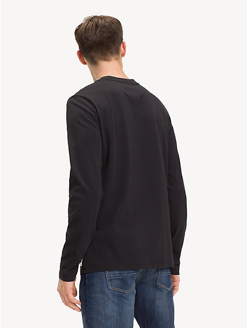 TOMMY HILFIGER Long Sleeve Logo T-Shirt - JET BLACK - TOMMY HILFIGER Sustainable Evolution - detail image 1