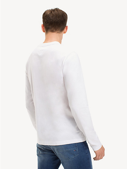 TOMMY HILFIGER Long Sleeve Logo T-Shirt - BRIGHT WHITE - TOMMY HILFIGER Sustainable Evolution - detail image 1