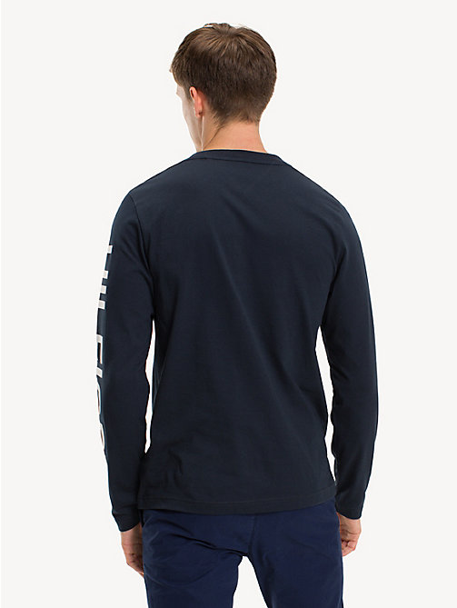 TOMMY HILFIGER Long-Sleeve Pure Cotton T-Shirt - SKY CAPTAIN - TOMMY HILFIGER NEW IN - detail image 1
