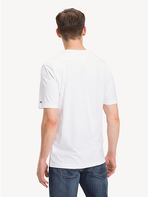 TOMMY HILFIGER American Football Logo T-Shirt - BRIGHT WHITE - TOMMY HILFIGER T-Shirts - detail image 1