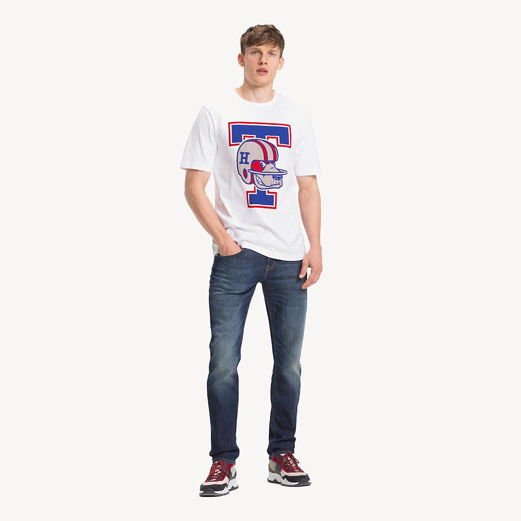 Tommy Hilfiger - T-Shirt mit American-Football-Logo - 3