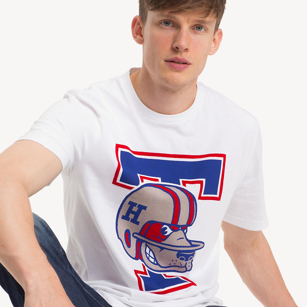 Tommy Hilfiger - T-Shirt mit American-Football-Logo - 4